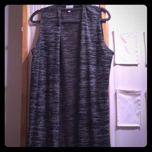 LuLaRoe joy vest black grey size medium